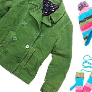 Girls green Gap coat/ peacoat